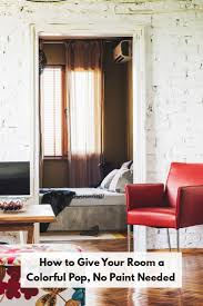 Living Room With No Coffee Table by How To Give Your Room A Colorful Pop No Paint Needed The