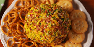 thanksgiving cheese ball recipe best loaded football cheeseball how to make loaded football