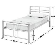 buy home atlas single metal bed frame silver at argos co uk