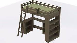 white loft bed with desk loft bed with desk ebay