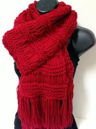 knitted orange scarf winter fashion scarf knit orange scarf