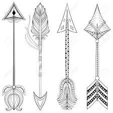 vector ethnic arrows in zentangle design concept hand drawn