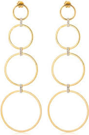 connecting earrings gold jewellery earrings for women compare prices and buy online