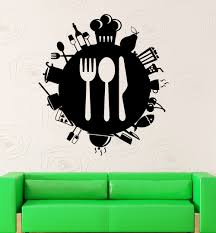 popular small kitchen wall art buy cheap small kitchen wall art new arrival restaurant vinyl wall decal creative cooking housewife kitchen tools mural art wall sticker home