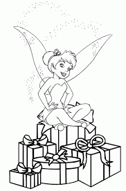 christmas tinkerbell coloring pages kids coloring