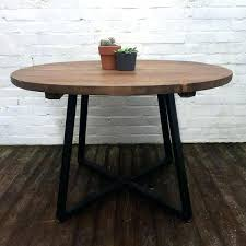 Industrial Pedestal Table Reclaimed Wood Round Dining Tables U2013 Mitventures Co