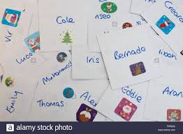 classmates search christmas cards addressed to a child s classmates and school