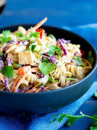 Pasta Salad Mayo by Asian Peanut Pasta Salad