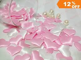 white party table decorations free shipping 1000pcs pink and white wedding table decoration hearts