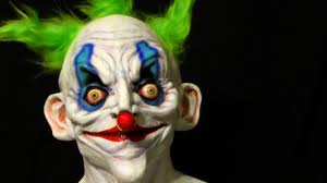 halloween background wide wide eyed killer clown latex halloween mask youtube