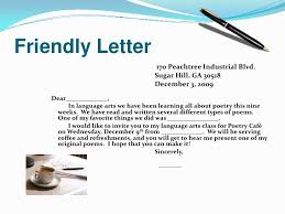 friendly letter for poetry cafe