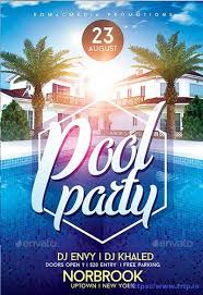 50 best summer pool party flyer print templates 2017 https www