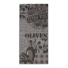 tapis de cuisine alinea tapis de cuisine 67x140cm olives linge de maison linge de