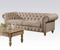 Traditional Tufted Sofa by Fabric Beige Sofa Ac Semadara Traditional Sofas