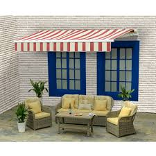 12x10 Awning by Sunjoy Sinclair Manual Operation Awning