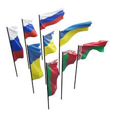 3d model flags of russia ukraine belarus cgtrader
