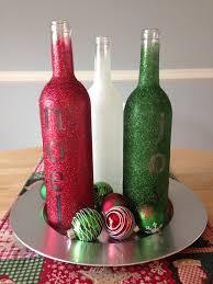 wine bottles with labels removed elmer u0027s spray glue glitter