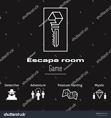 logo icons quest escape room game stock vector 588802244