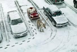 wallpaper new year snow winter parking deer