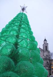 this 40 foot tree is made of 40 000 recycled plastic