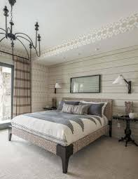 rustic chic bedroom design rustic wood nightstand near storage