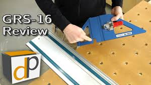 portable track saw table grs 16 track saw guide rail square review youtube
