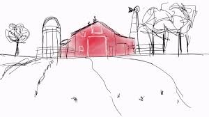 red barn sketch with ipad pro procreate app youtube