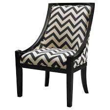 Accent Chairs Black And White Furniture Black White Chevron Accent Chair With Arm And Back Also