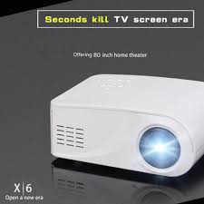 led home theater projector 1080p x6 mini portable led projector hdmi home theater multimedia