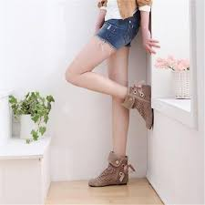 wedding shoes ankle women summer boots big size 34 43 new fashion wedges
