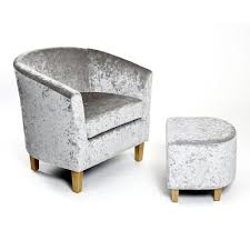 Tub Chair Sandringham Crushed Velvet Tub Chair And Footstool U2013 Next Day