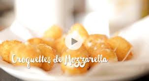 comment cuisiner la mozzarella croquettes de mozzarella recette vidéo gourmand