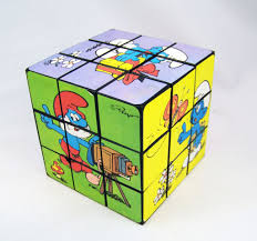 rubik s smurfs kyx cube smurf s cube loose
