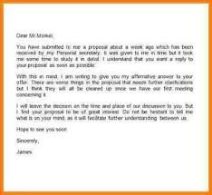 a proposal letter 32 sample business proposal letters best 25