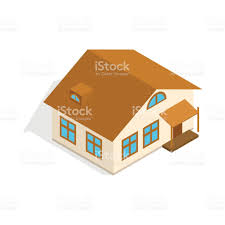 one storey house with porch icon stock vector art 665738218 istock