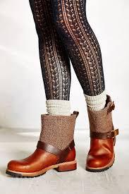 brown moto boots woolrich balt oxford tweed moto boot in brown lyst