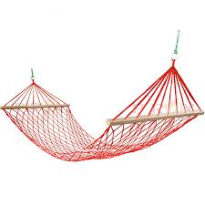 outdoor camping portable hammock single person mesh nylon