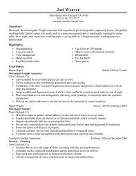 Resume Sample For Retail by Best Part Time Overnight Freight Associates Resume Example