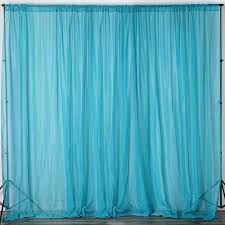 Turquoise Sheer Curtains 10ft X 10ft Sheer Organza Curtain Panel Turquoise Efavormart