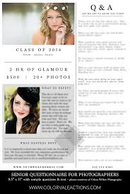 Questionnaire For Home Design by Senior Portrait Questionnaire Template Photoshop Template Get