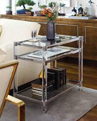 Acrylic Accent Table Stainless Steel Frame Acrylic Accent Table
