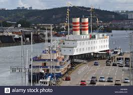 hotel on a ship on gota river gothenburg sweden stock photo