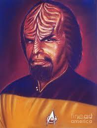 klingon star trek painting by anastasis anastasi