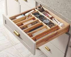 keep your kitchen organized with built in drawer organizers from