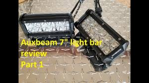 auxbeam light bar review auxbeam 7 cross 2 rgb led light bar review install part 1 youtube