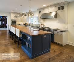Kitchen Island Cabinet White Cabinets With A Blue Kitchen Island Masterbrand