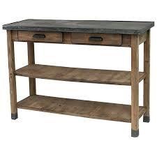 console pour cuisine table console cuisine table console de drapier en bois et zinc