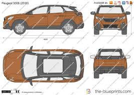 peugeot traveller dimensions the blueprints com vector drawing peugeot 3008 suv