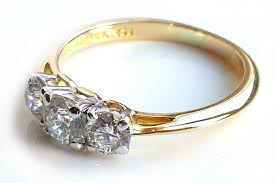 tiffany stone rings images Vintage tiffany co 0 90ct 3 stone diamond engagement ring in jpg