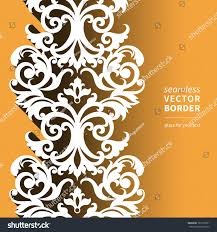 vector victorian ornamental border flat design stock vector